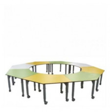 Podz Penta Table Fixed Height Parchment