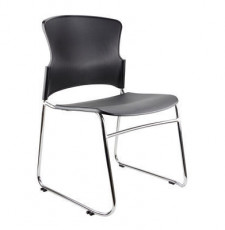Adam Sled Chrome PP/Upholstered