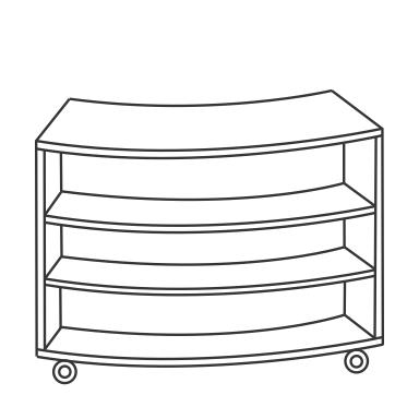 3 Shelf Unit