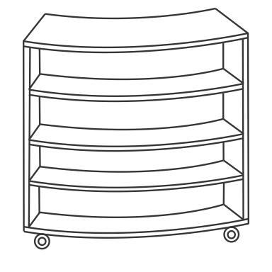 4 Shelf Unit