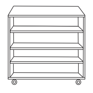 4 Shelf Unit