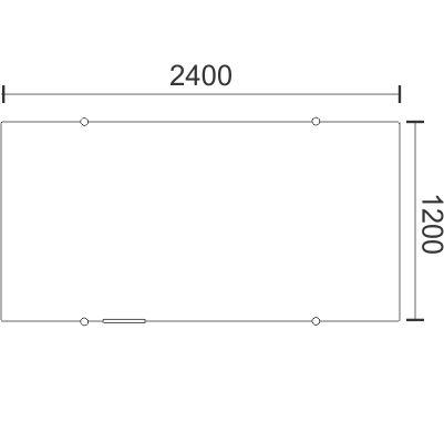1200H x 2400W